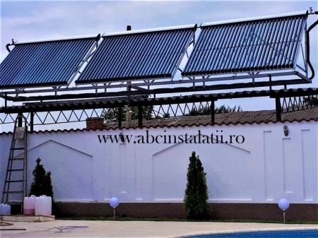 Pachet solar de incalzire piscina 120 mc + ACM cu Boiler Tesy de 300 litri cu 2 serpentine cu panouri WESTECH