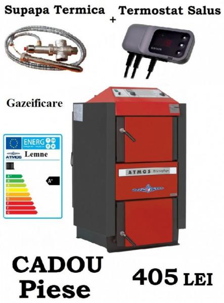 ATMOS DC40SX - 40 Kw CU GAZEIFICARE + CADOU Supapa termica si Controler Pompa