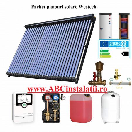 Pachet panou solar Westech cu 90 tuburi vidate si boiler ACM 15-16 persoane