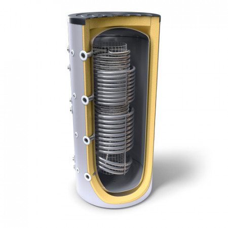 Puffer Igienic 800 litri Tesy cu doua serpentine V 10/6 S2 800 95 HYG5.5 HE C
