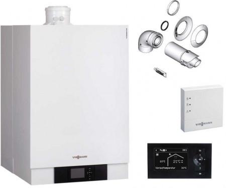 Pachet premium centrala termica in condensare Viessmann VITODENS 80 kW - B2HAL63