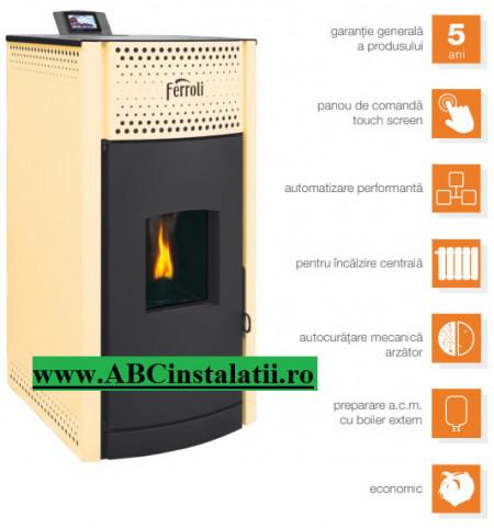 Ferroli Salerno Pellet 30 KW 5 ANI GARANTIE