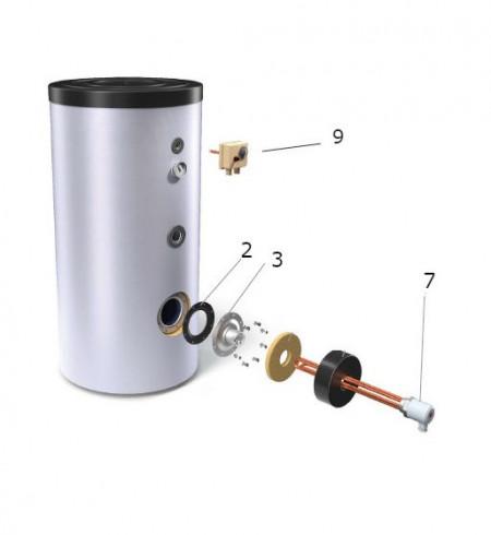 Rezistenta electrica cu termostat boiler TESY - 4,5 kW