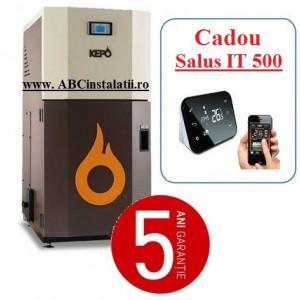 Cazan peleti KEPO 25 MC (10750058) + CADOU Termostat Ambient Salus IT500 curatare manuala a arzatorului