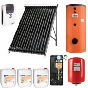Ferroli Pachet panouri solare Ferroli cu 20 tuburi vidate si boiler bivalent ECOUNIT 150 litri (PSFACM150)