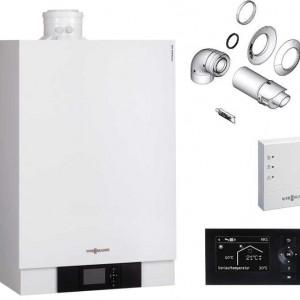 Pachet baza centrala termica in condensare Viessmann VITODENS 80 kW - B2HAL62