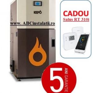 Cazan peleti KEPO 20 MC KW + CADOU Termostat Ambient Salus RT310i curatare manuala a arzatorului