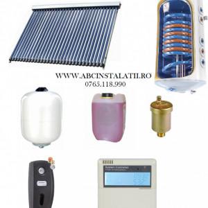 PACHET PANOU SOLAR cu 20 tuburi vidate SONTEC si boiler 150 litri cu 2 serpentine pentru 3-4 persoane