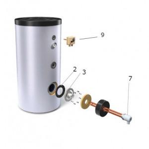Rezistenta electrica cu termostat boiler TESY - 6 kW