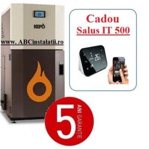 Cazan peleti KEPO 20 MC KW + CADOU Termostat Ambient Salus IT500 curatare manuala a arzatorului