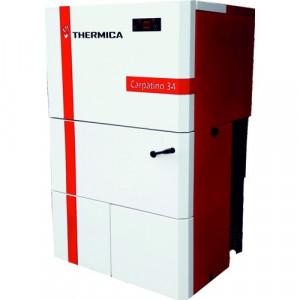 Cazan pe peleti THERMICA Carpatino 34 Double Fan + CADOU Termostat Ambient Q3RF - 30.8 kW
