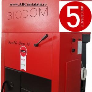 Centrala termica pe peleti Biodom Double FAN 30 Kw + CADOU Termostat Ambient Salus RT310i
