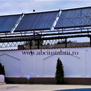 Pachet solar de incalzire piscina 20 mc + ACM cu Boiler Tesy de 300 litri cu 2 serpentine cu panouri WESTECH