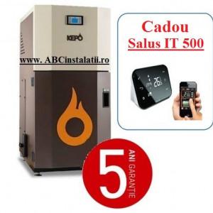 Cazan peleti KEPO 25 AC KW + CADOU Termostat Ambient Salus IT500 curatare automata a arzatorului
