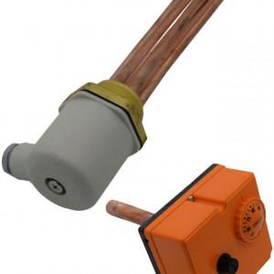 Rezistenta electrica cu termostat boiler WOODY - 2 x 7.5 kW
