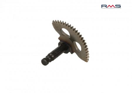 Pinion pedala pornire Aprilia/Minarelli/Yamaha (ax lung, pinion curbat)