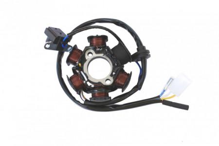 Stator GY6 50-80cc 4T (6 bobine+senzor scanteie, 4 fire)