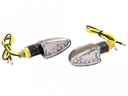 Set lampi semnalizare cu leduri-carbon-oval