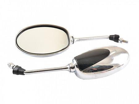 Set oglinzi negru-crom M8