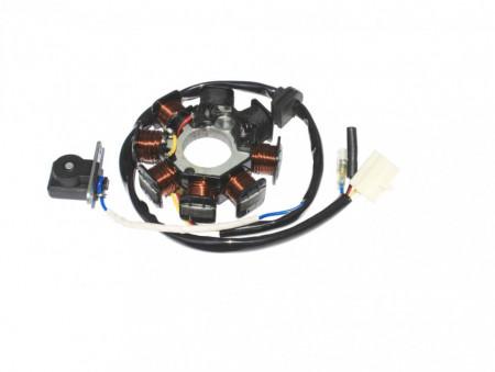 Stator GY6 (8 bobine+senzor scanteie, 4 fire)