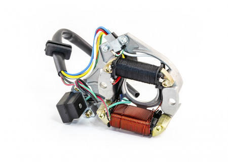 Stator moped 4T -2 bobine+senzor scanteie+platou