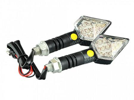 Set lampi semnalizare cu leduri-carbon-romb