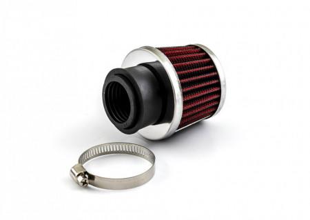 Filtru aer sport Ø28/35mm, crom -conic