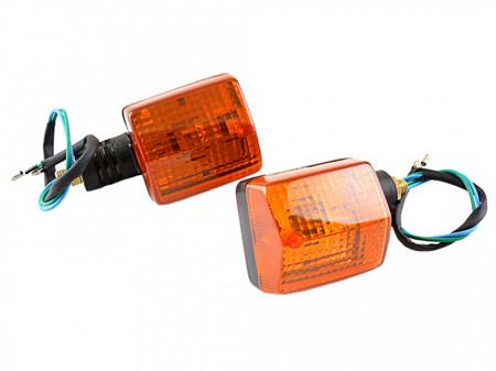Set lampi semnalizare dreptunghiulare-negru