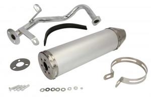 Esapament tuning GY6 4T 50cc, 139QMB, argintiu
