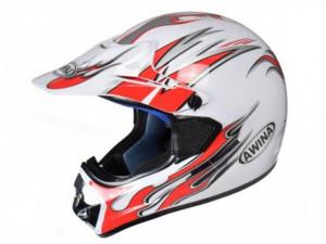 Casca moto enduro alb-rosu Awina TN8686-30 marimea XL