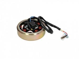 Ansamblu stator+rotor GY6 50cc 4T, 139OMB, 8 bobine