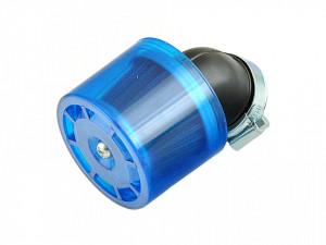 Filtru aer sport cu protectie albastra plastic-Ø38mm/cot 45 grade