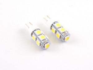 Set bec pozitie T10 cu 9 led-uri SMD, alb