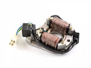 Stator ATV 110cc 2 bobine+senzor scanteie+platou