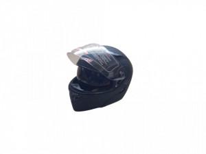 Casca moto flip-up unisex, negru mat