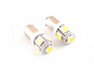 Set bec pozitie T4W (BA9S) cu 5 led-uri SMD, alb