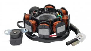 Stator GY6 125cc (8 bobine+senzor scanteie, 5 fire)