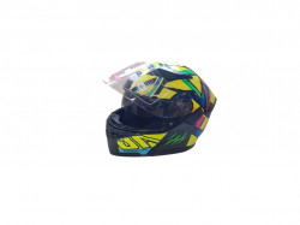 Casca moto flip-up unisex, multicolora