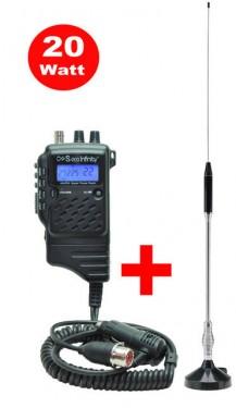 Statie radio compacta - Putere Reglabila 4-20w + Antena S70 GRATIS