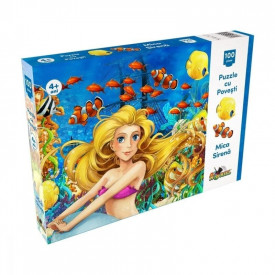 Puzzle 100 piese Mica sirena
