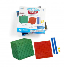 Set matematic - Modele in baza 10 (131 piese)