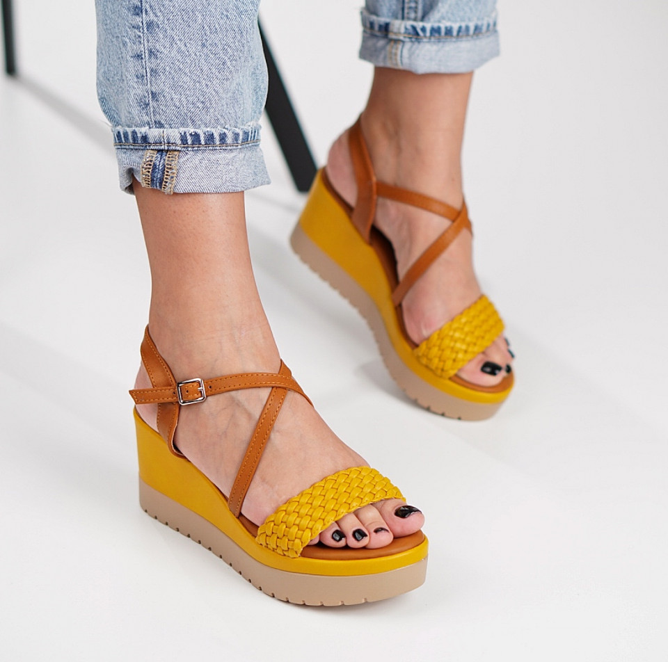 Sandale cu platforma dama SB1210B