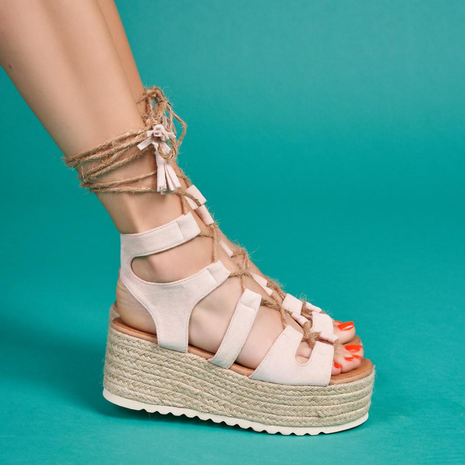Sandale cu platforma dama SB1634B