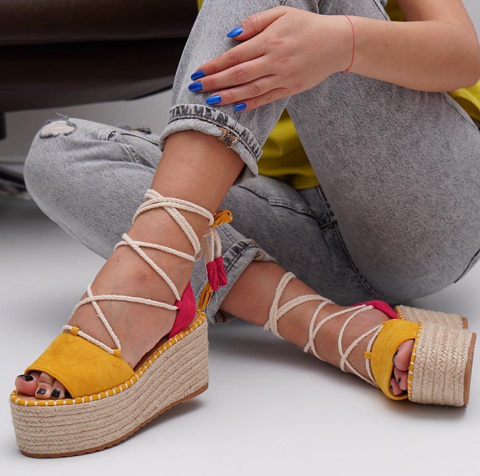 Sandale cu platforma dama SB1549B