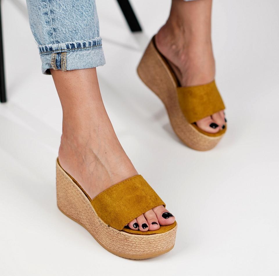 Papuci cu platforma dama SB1230B
