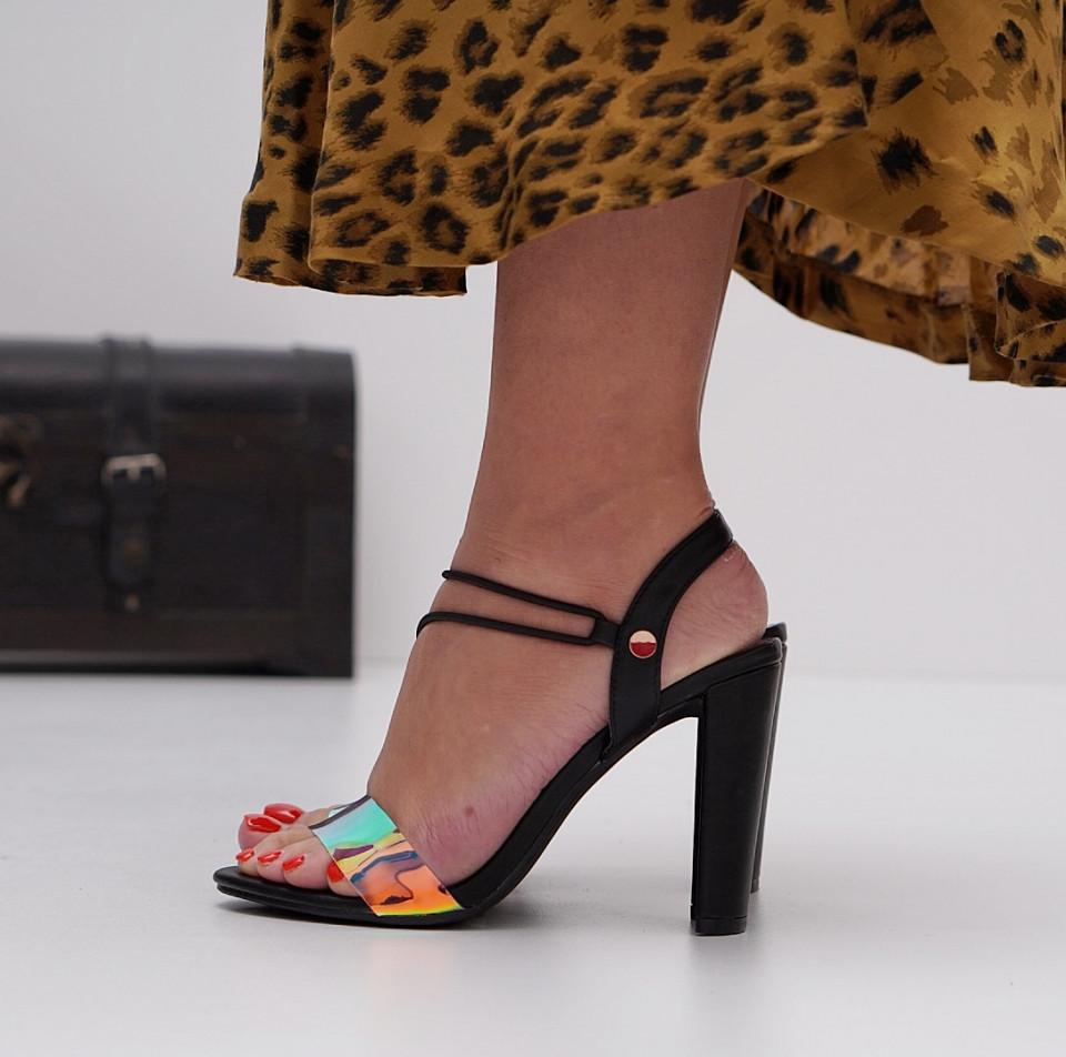 Sandale cu toc dama SB1285B
