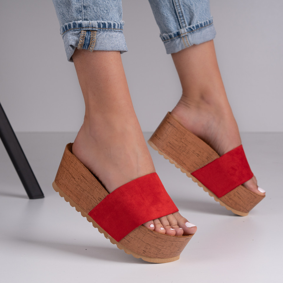 Papuci dama cu platforma SB1376B