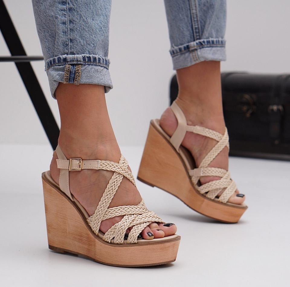 Sandale cu platforma dama SB1483B