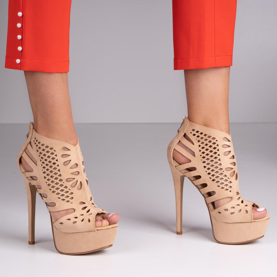 Sandale cu toc dama SB1390B