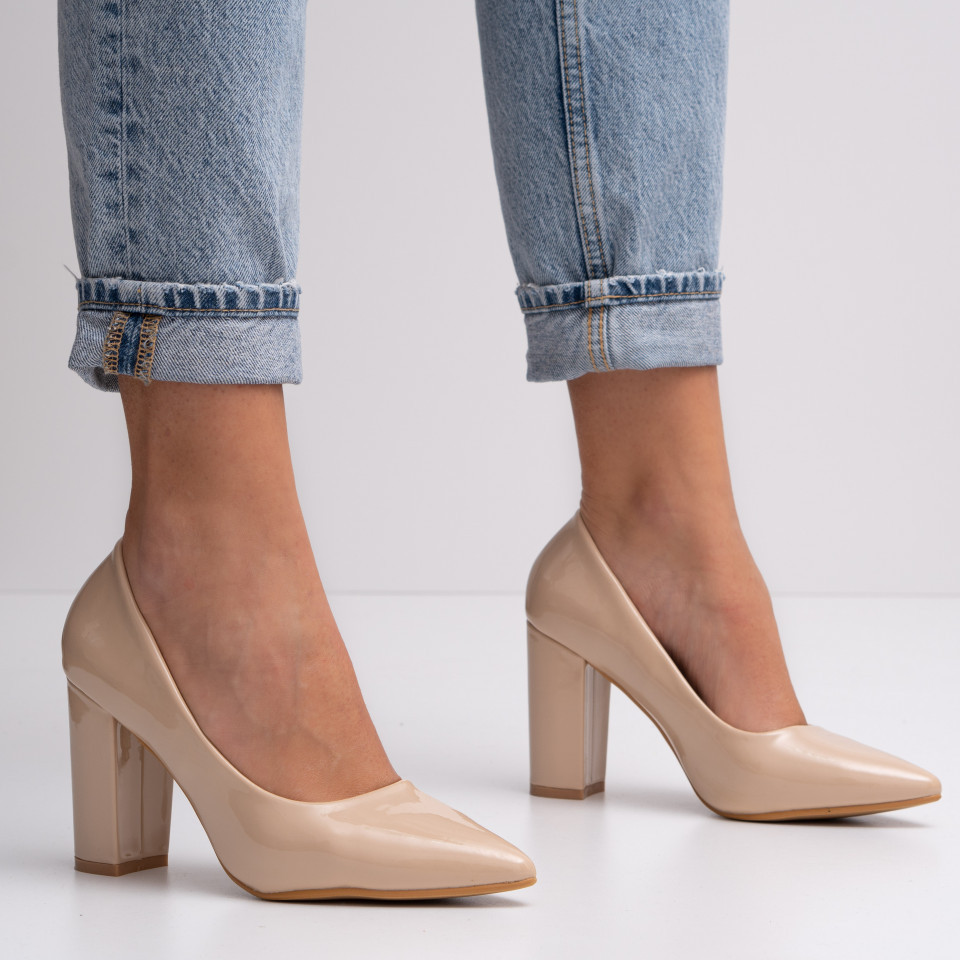 Pantofi cu toc dama SB1413B